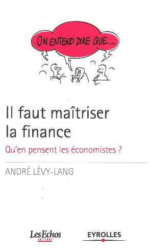 COUVERTURE IL FAUT MAITRISER LA FINANCE