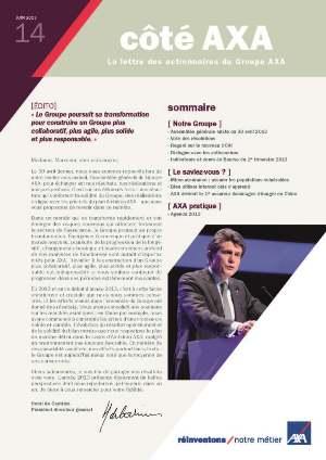 lettre aux actionnaires AXA juin 2013