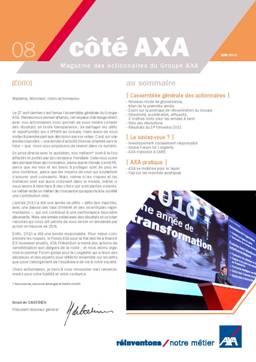 Lettre aux actionnaires de Juin 2011 AXA