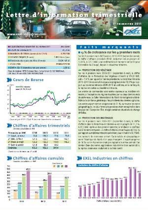 Lettre aux actionnaires du 3eme trimestre 2011 EXEL Industries