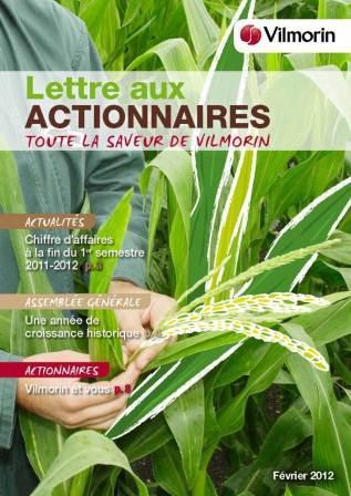 lettres aux actionnaires VILMORIN FEVRIER 2012