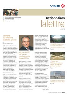 Lettre aux actionnaires de Avril 2011 VINCI