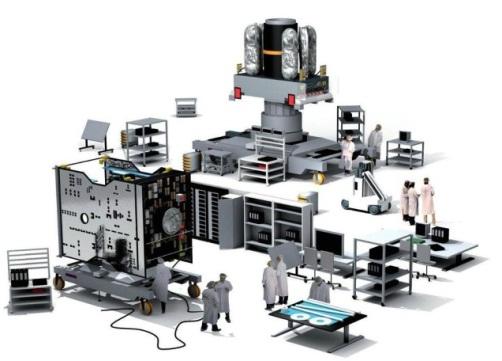 EADS Assemblage, intégration et tests des satellites